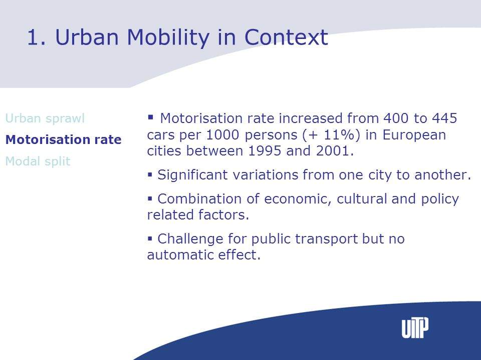 1. Urban Mobility in Context