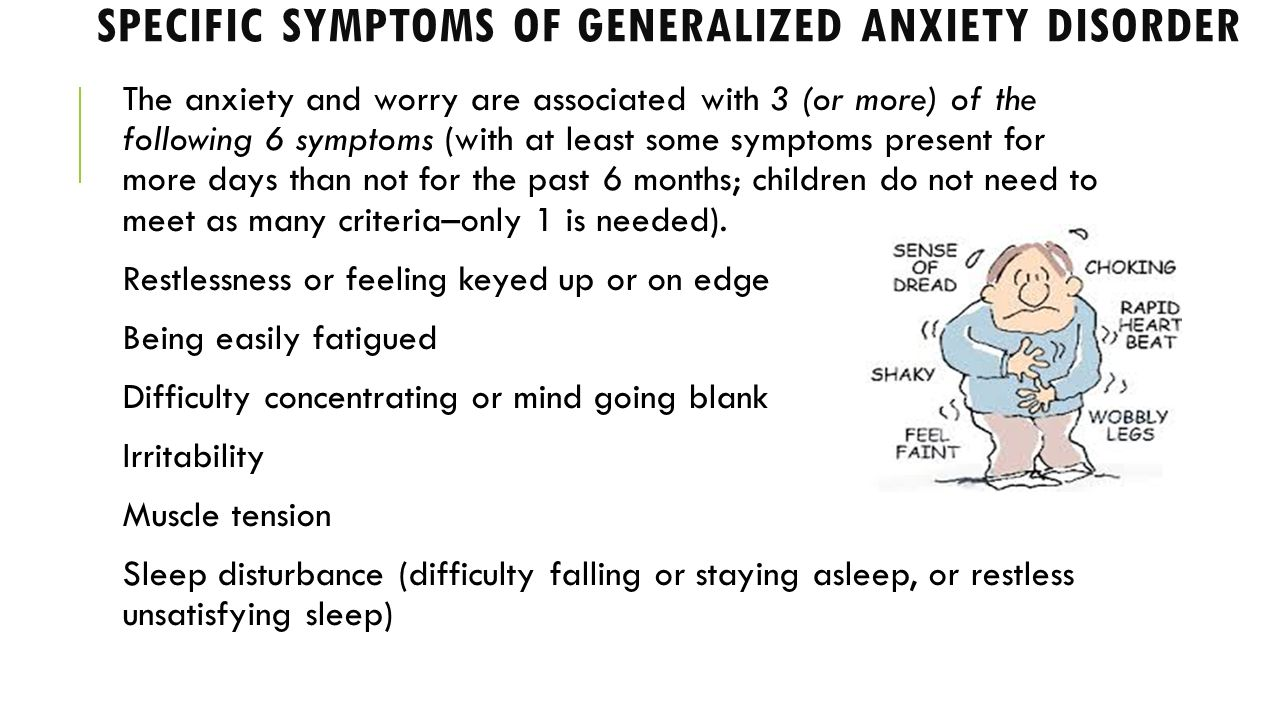 the diagnosis of generalized anxiety disorder a mental disorder About seven million americans have a psychiatric condition known as  generalized anxiety disorder (gad), yet less than half receive treatment.