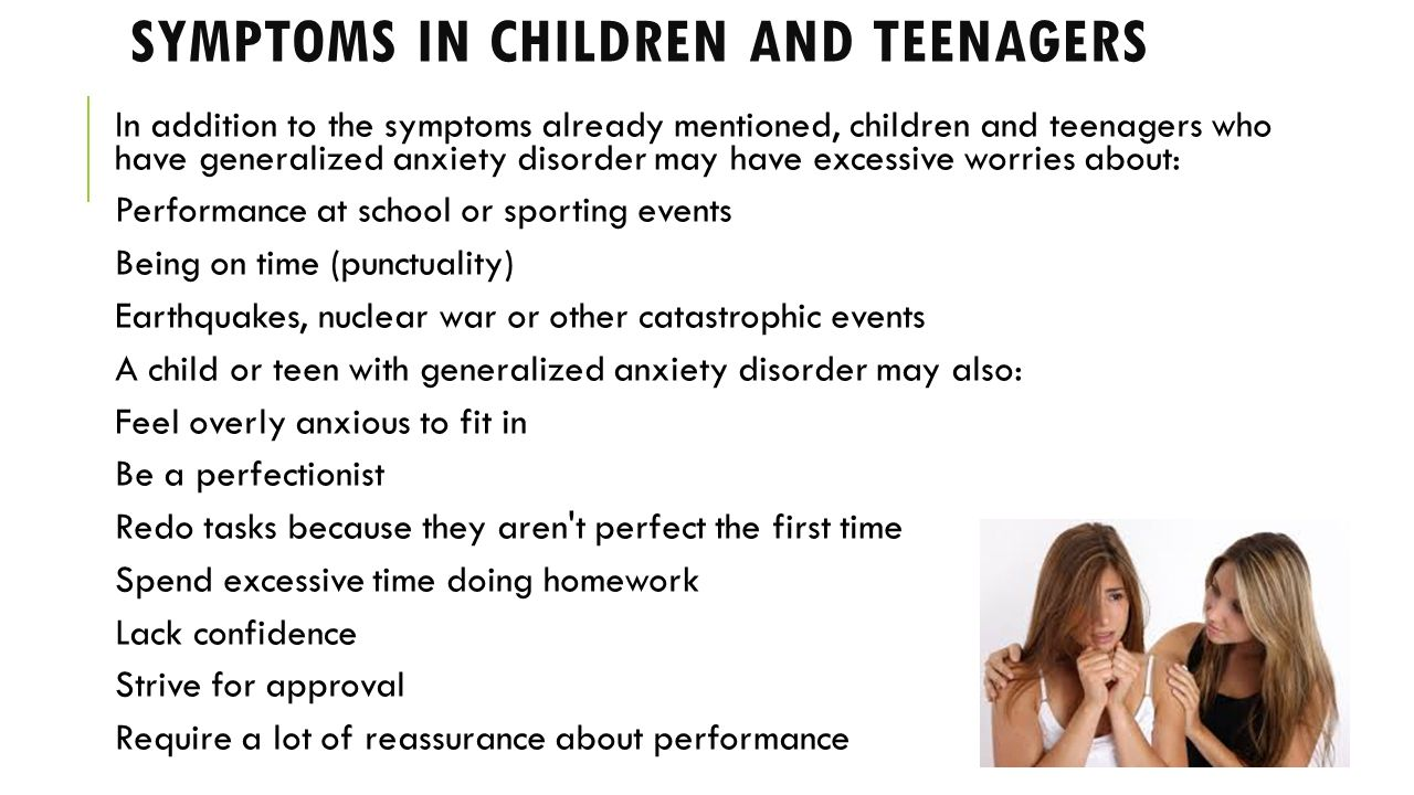 anxiety in preschoolers symptoms generalized anxiety disorder panic disorder phobias ppt 888