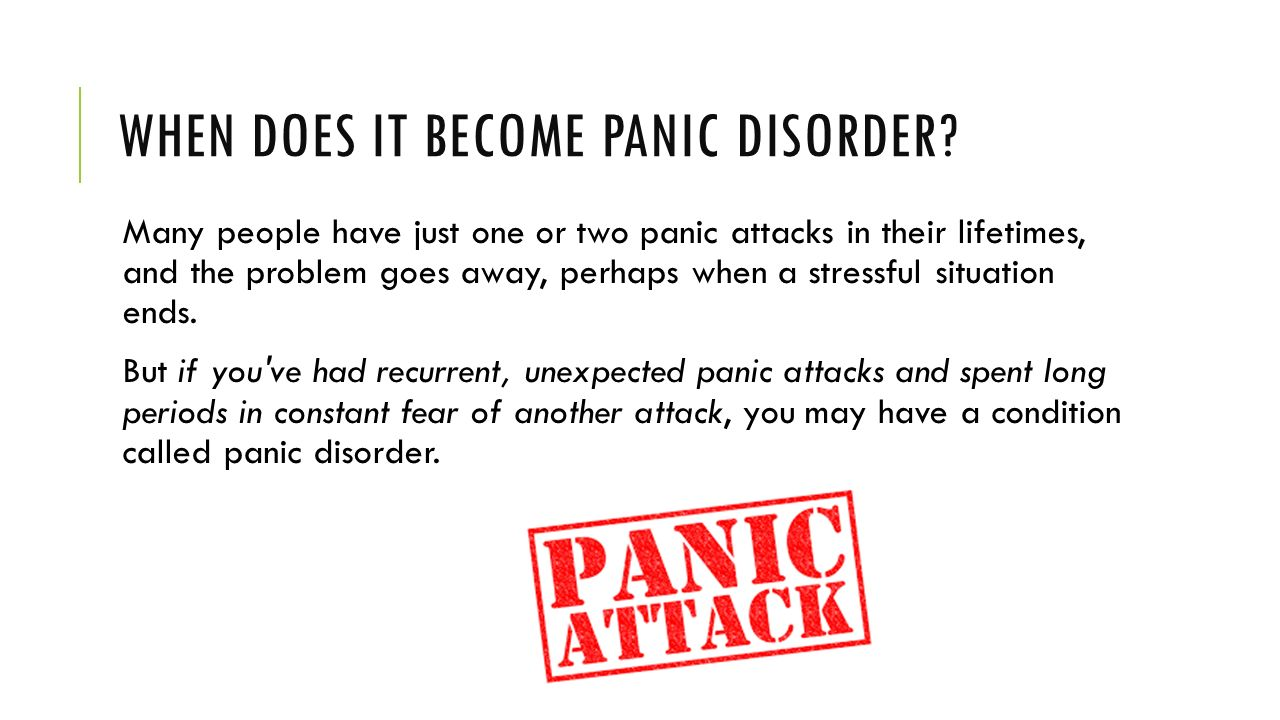 panic disorder Panic disorder you feel terror that strikes at random during a panic attack, you may also sweat, have chest pain, and feel palpitations (unusually strong or.