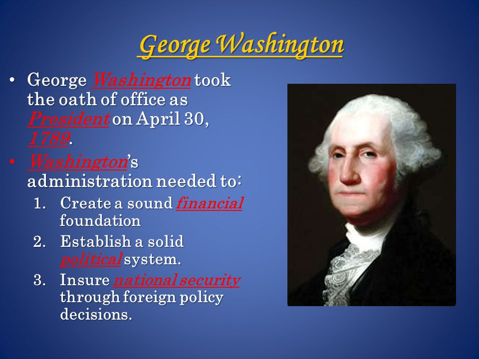 George Washington: The Precedent President