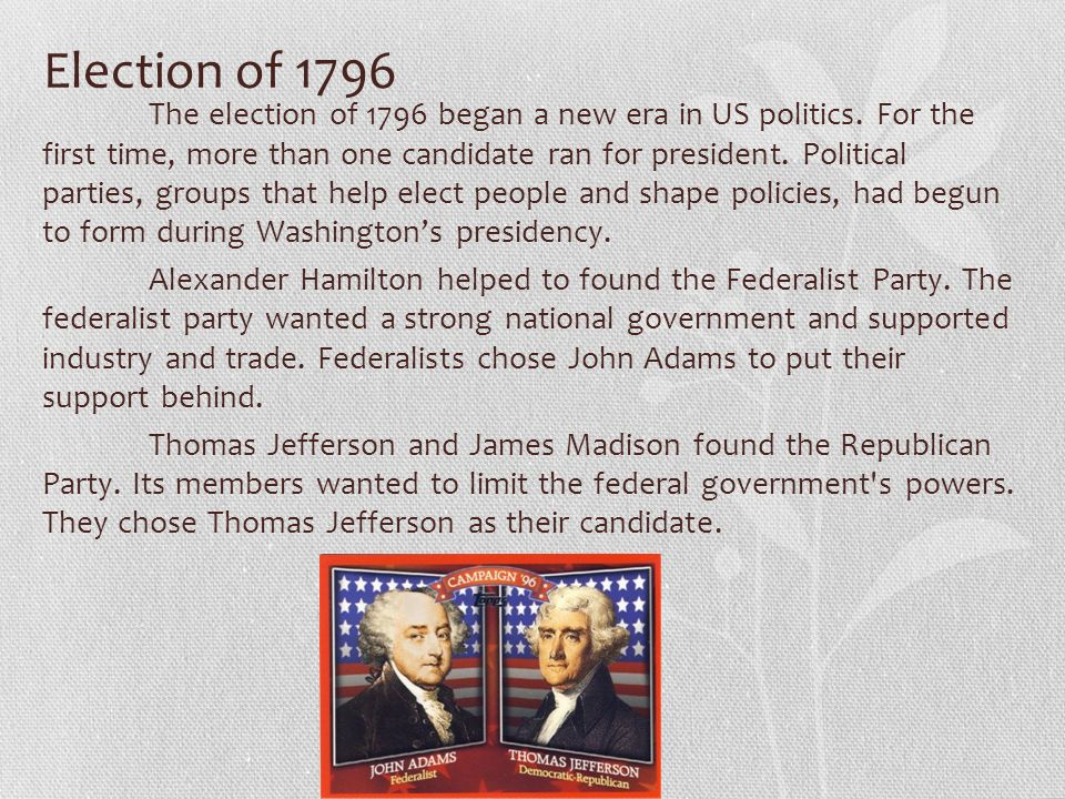 the changes in the republican party during the presidencies of jefferson and madison During the end of james madison's presidency, the republican party a  james madison during their presidencies  party during jefferson's and madison's.