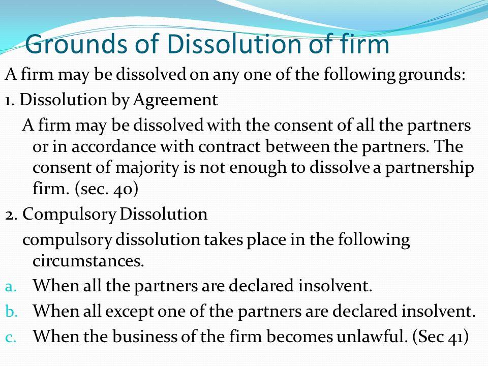 Dissolve Partnership Letter Akbaeenw