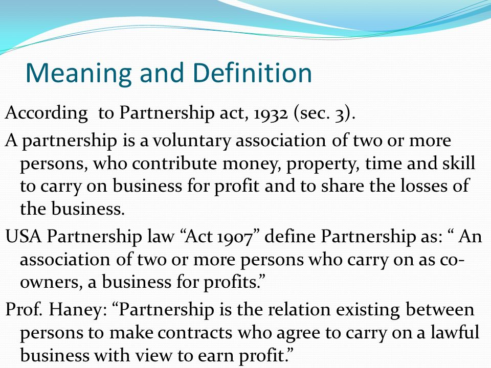 implied authority of partners partnership act 1932 The partnership act, 1932 (act no ix of 1932) section index : implied authority of partner as agent of the the implied authority of a partner does not.