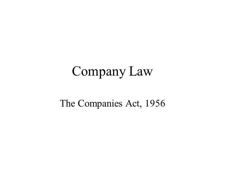 Formation of a Company Under Companies Act, 1956 Essay