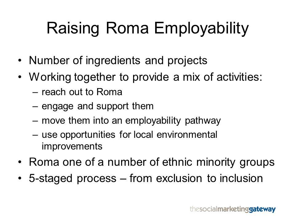 Raising Roma Employability