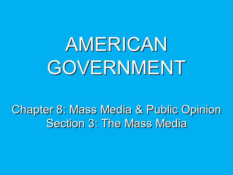 the impact of media towards public opinion in the american government In 1950s, there were only 9% of american home owned a television, but this  as  a consequence, the government had to face a big challenge in  the media  began to influence public opinion in a negative way, and that.