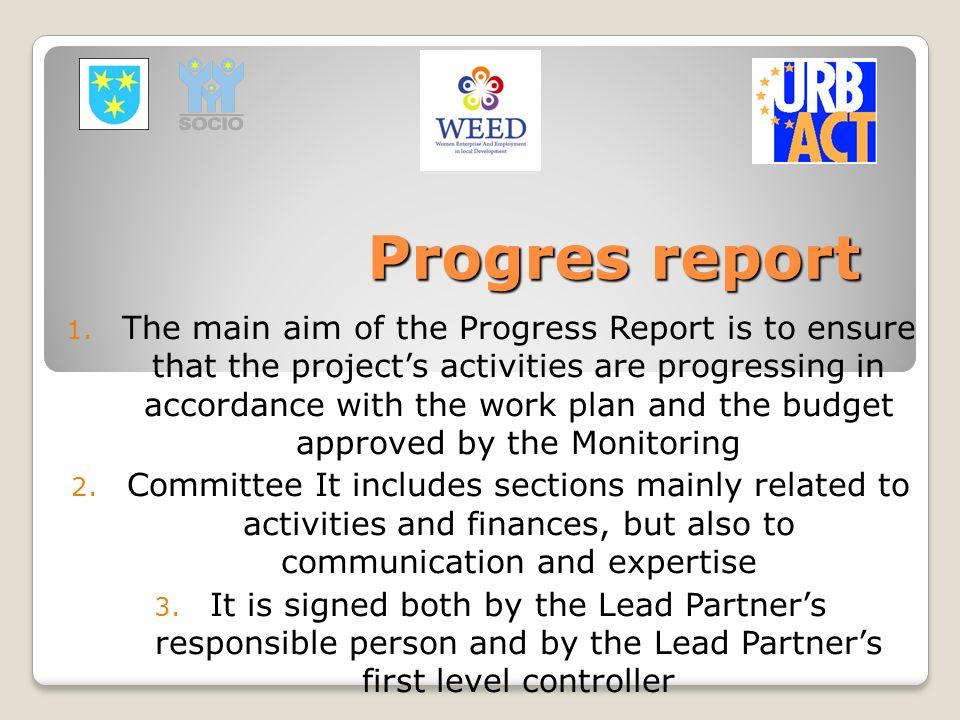 Progres report