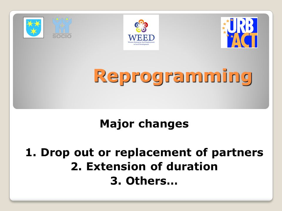 1. Drop out or replacement of partners