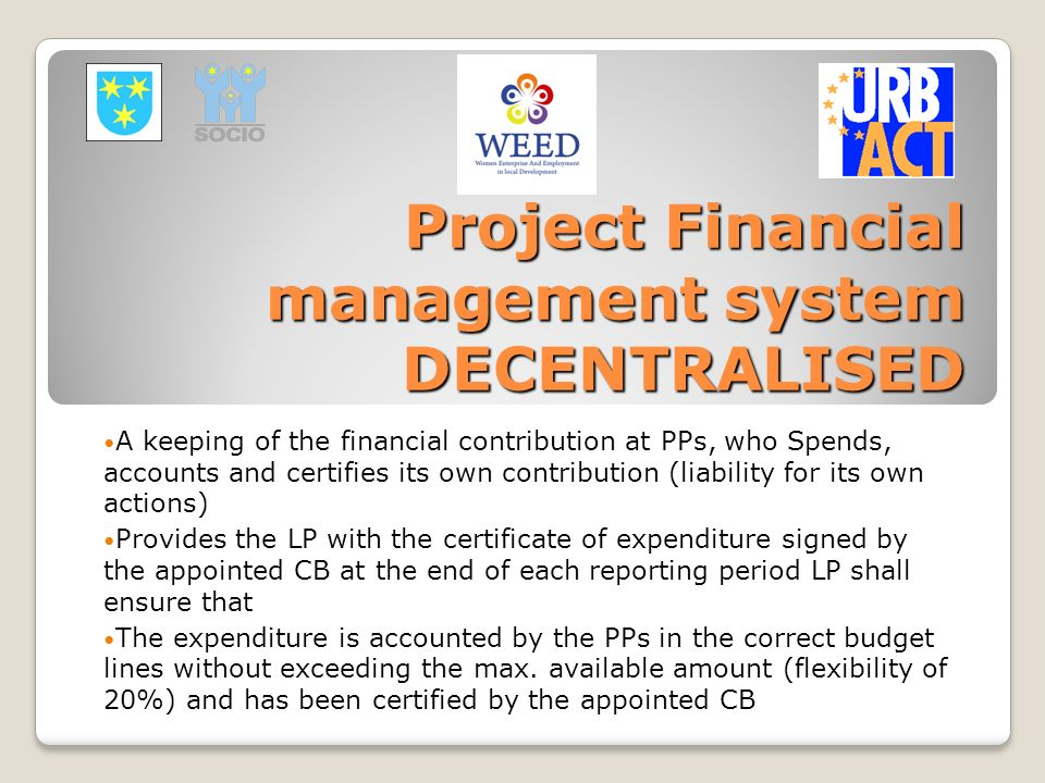 Project Financial management system DECENTRALISED
