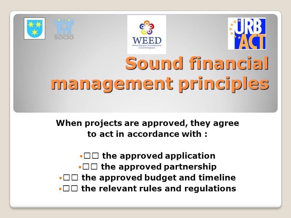 Sound financial management principles