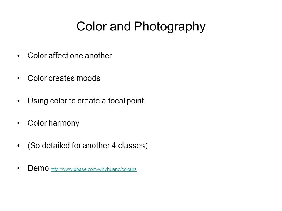 Colours And Moods color theory and photography - ppt video online download