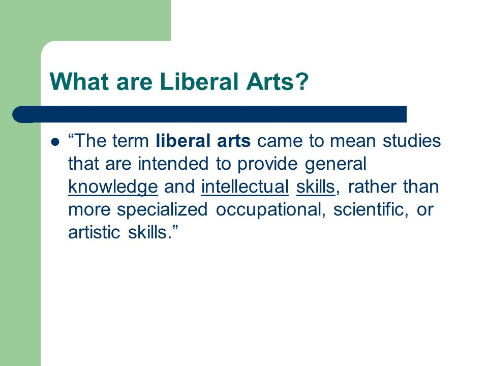 what are liberal arts