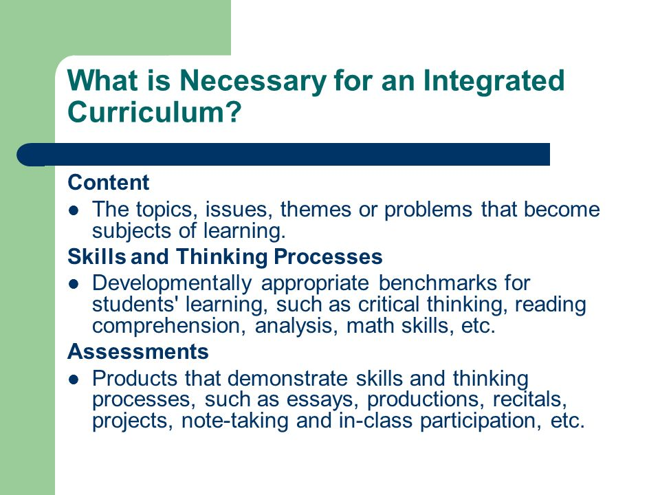 critical thinking skills curriculum for excellence The goals of the national council for excellence in critical thinking thinking instruction across the curriculum at thinking skills.