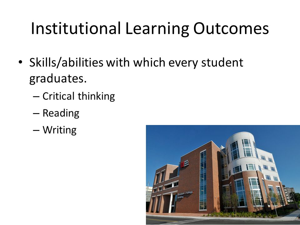 Examples of Learning Objectives in Reading