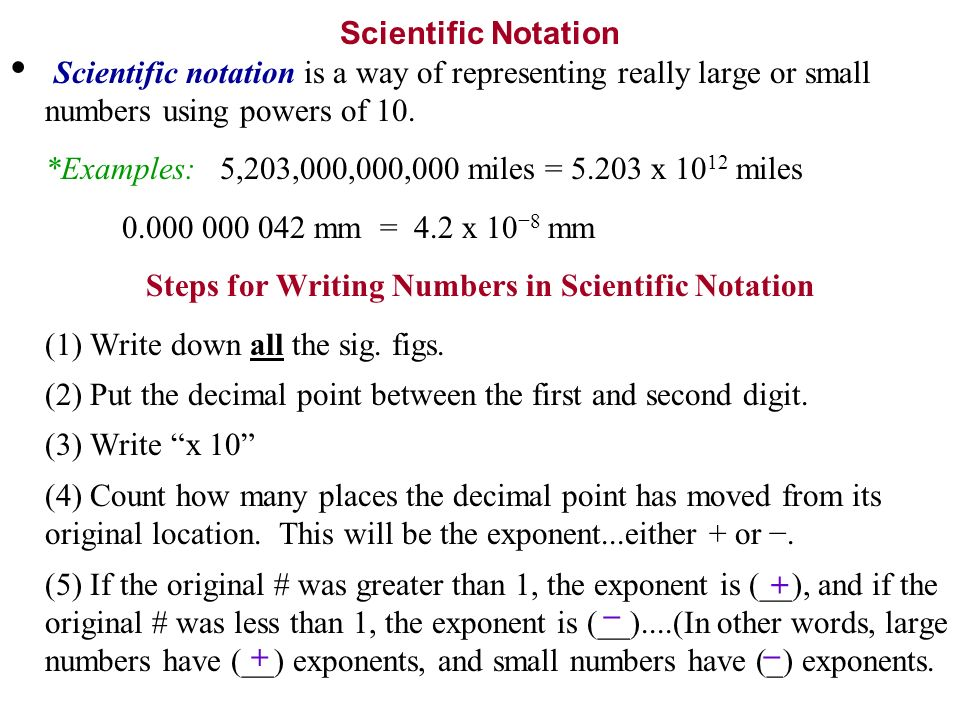 Help writing numbers scientific notation