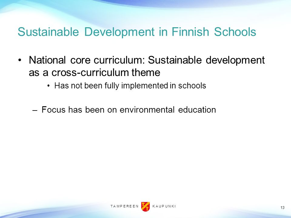 Sustainable Development in Finnish Schools
