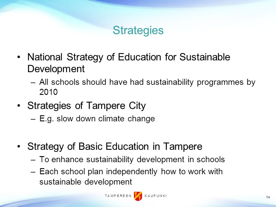 Strategies National Strategy of Education for Sustainable Development