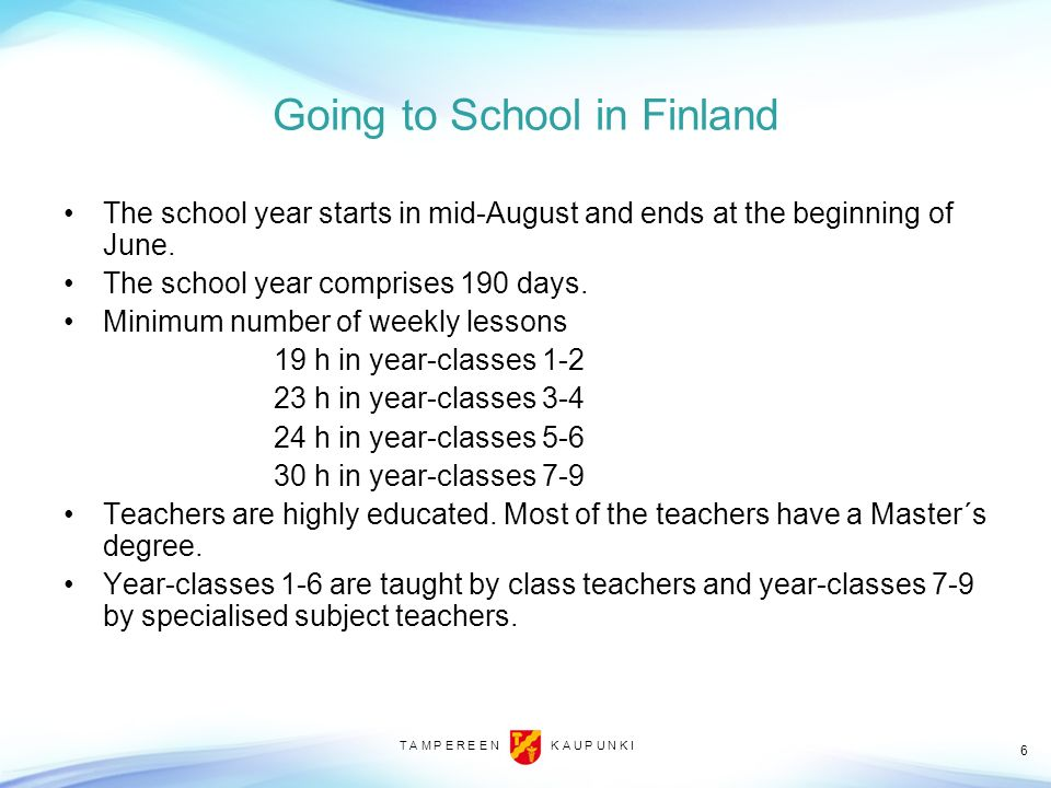 Going to School in Finland