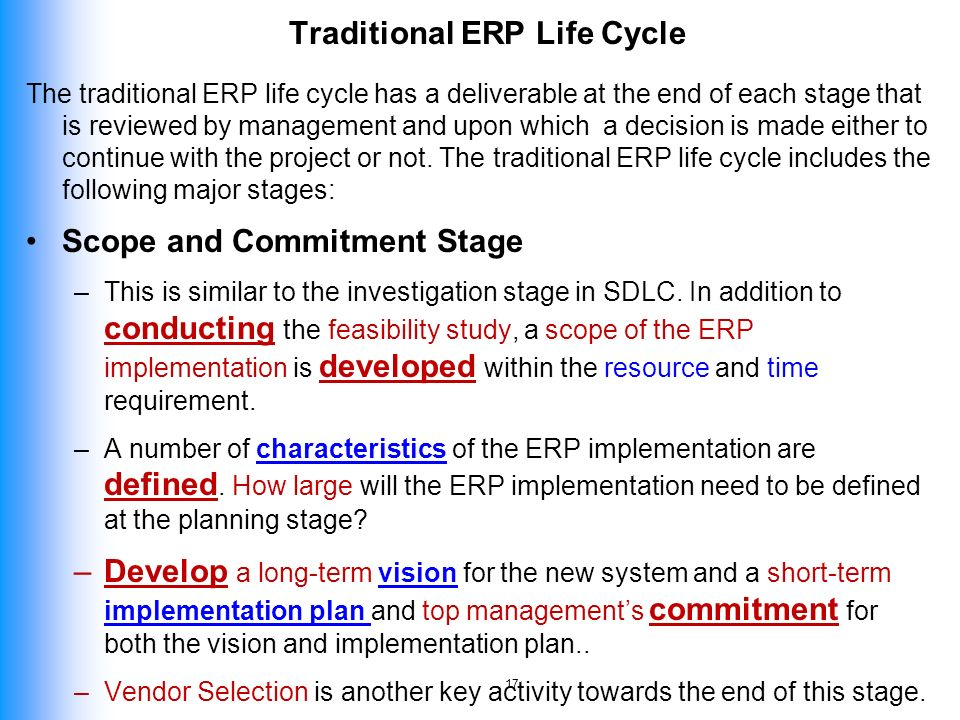 erp feasibility study Enterprise resource planning (erp) is business management software consisting of a set of integrated applications to consolidate common business operations for milwaukee county this covers:.