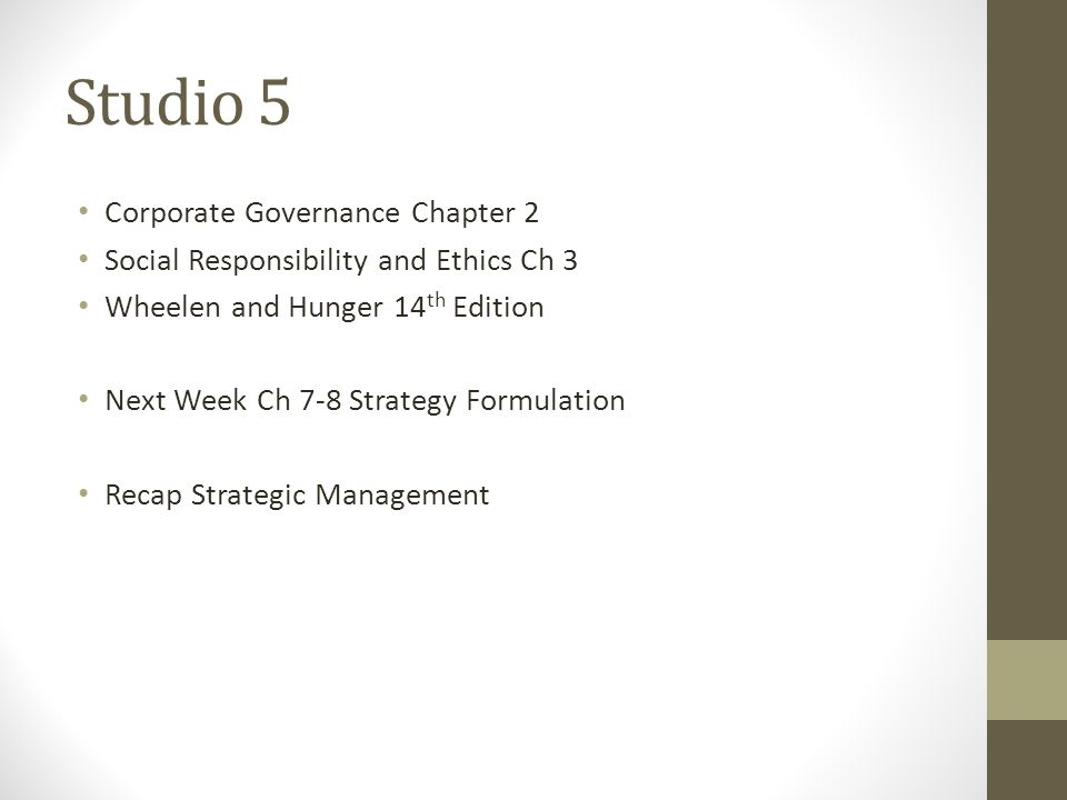 social responsibility and ethics in strategic management pdf
