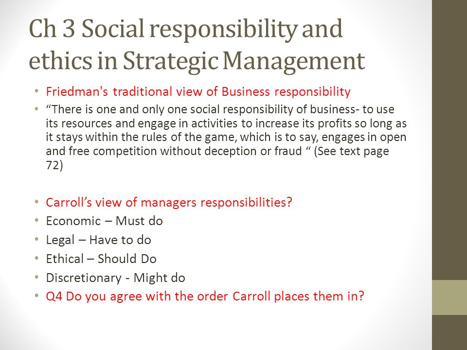 Chapter 5 (managing Social Responsibility And Ethics)