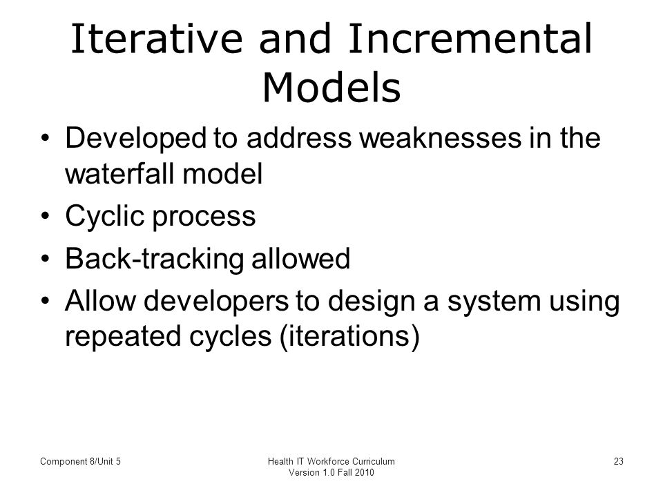 Difference between Waterfall and Incremental Model