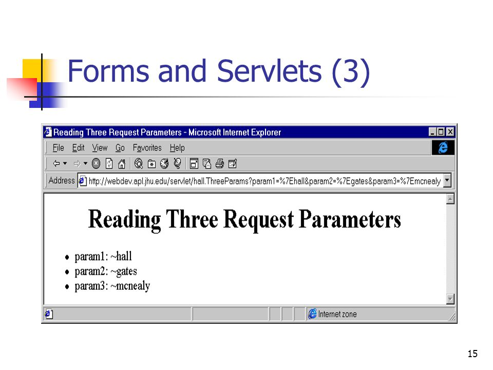 Forms and Servlets (3)