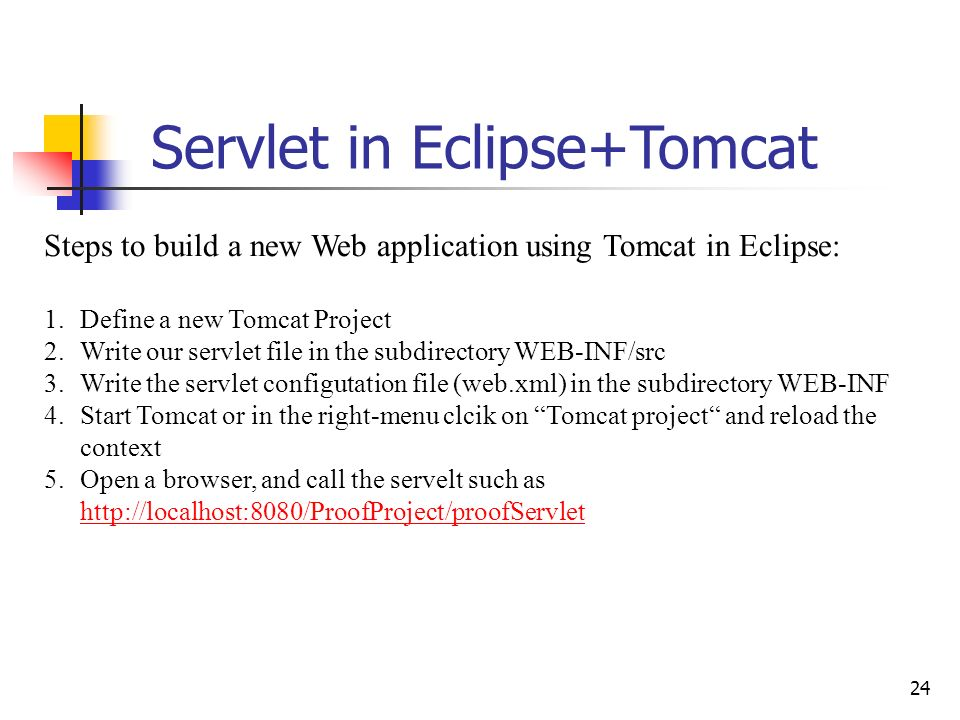 Servlet in Eclipse+Tomcat