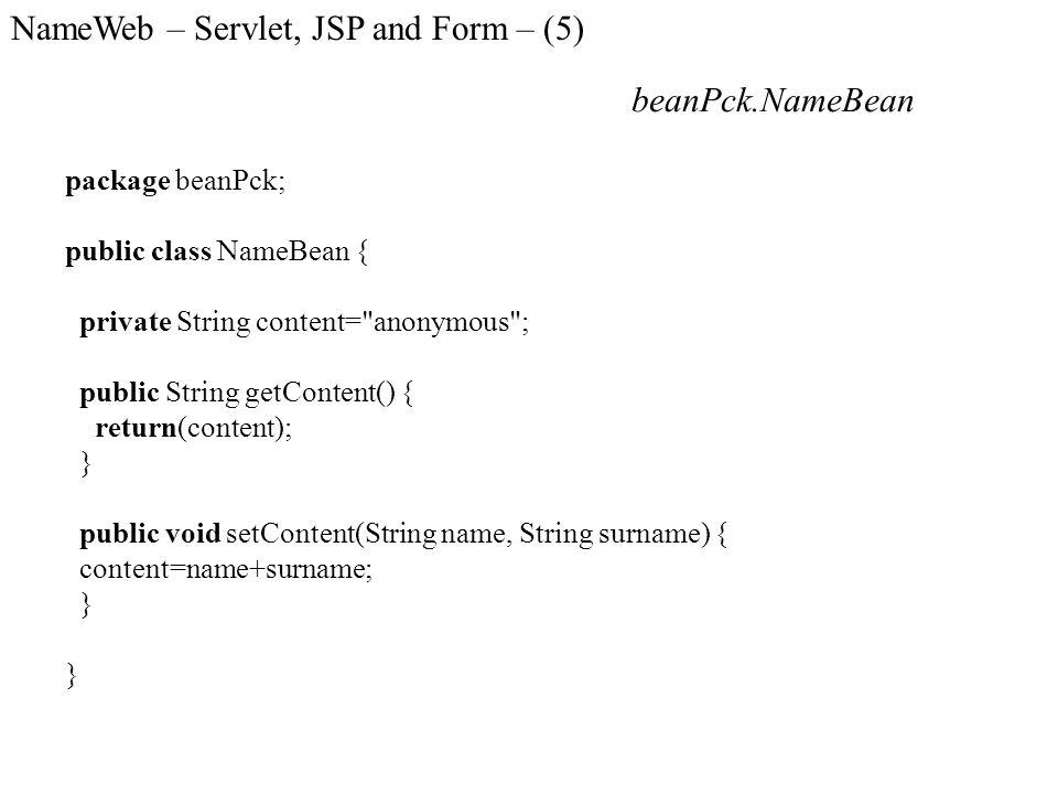 NameWeb – Servlet, JSP and Form – (5)