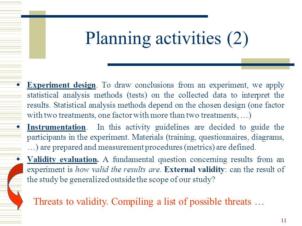 Planning activities (2)