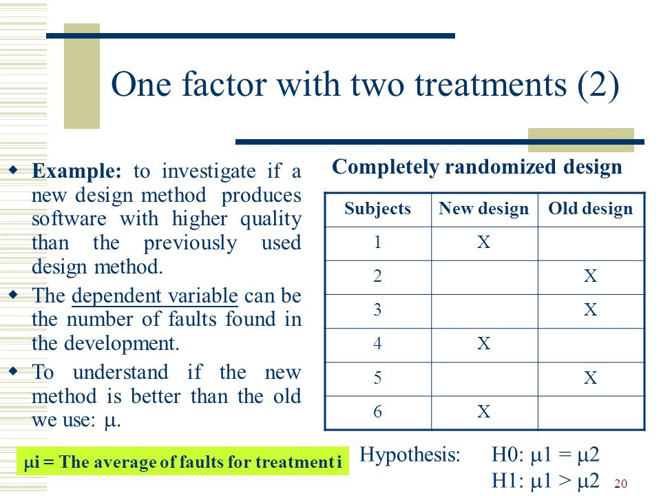 One factor with two treatments (2)