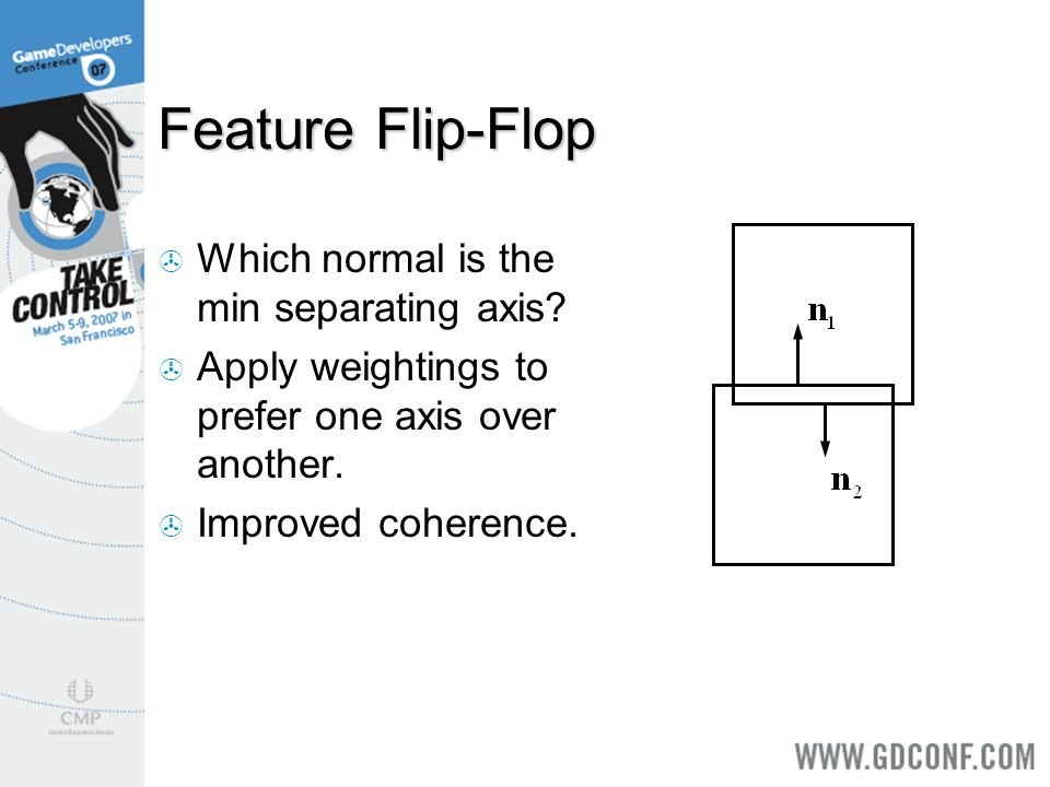 Feature Flip-Flop Which normal is the min separating axis