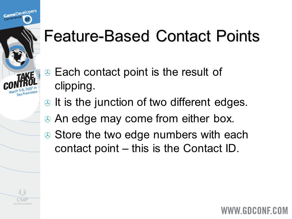 Feature-Based Contact Points