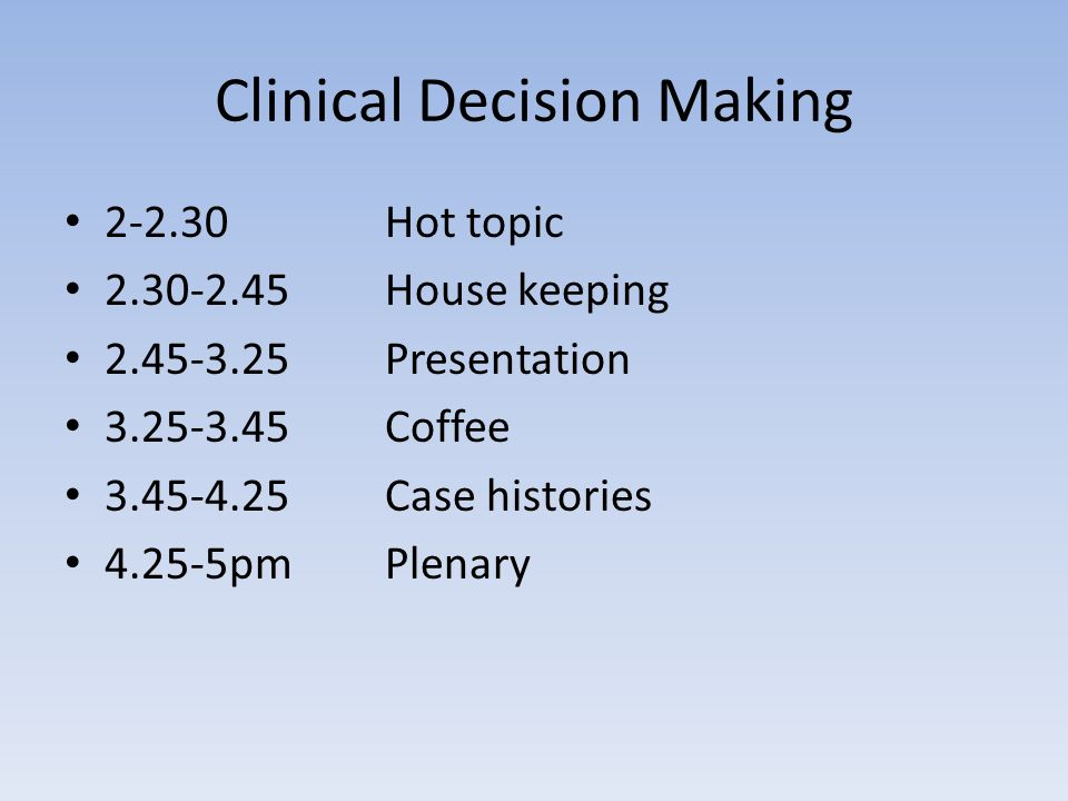 clinical decision making essays