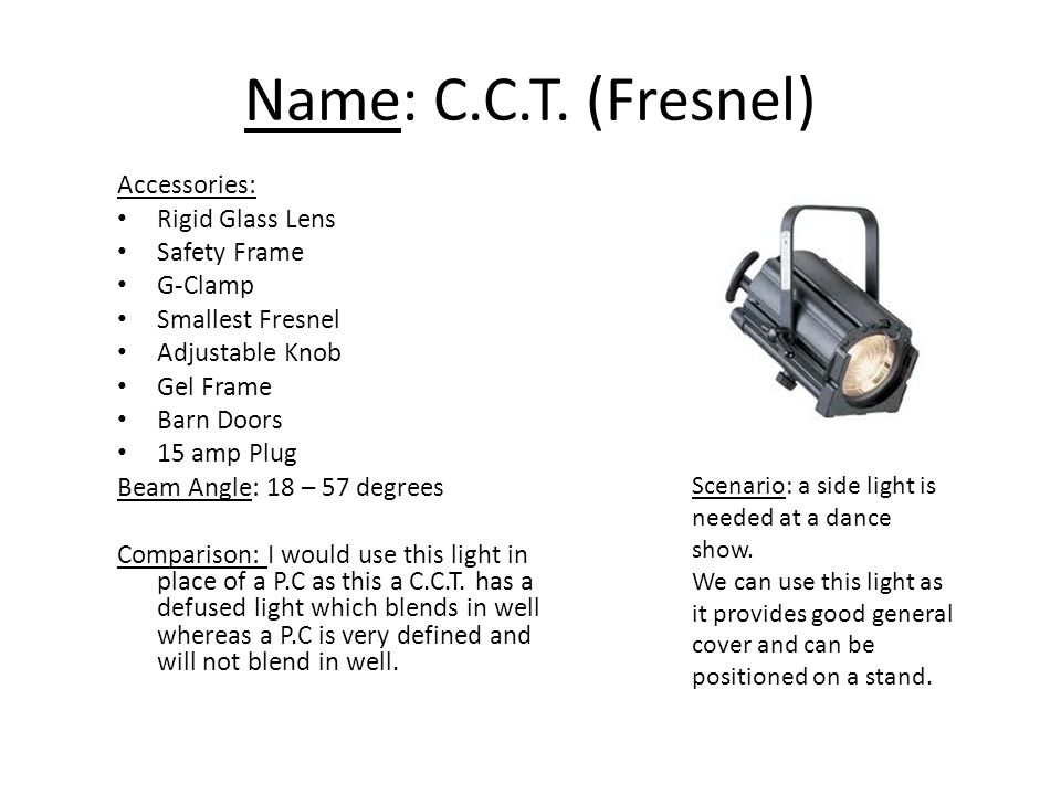 Name C T Fresnel Accessories Rigid Glass Lens Safety Frame