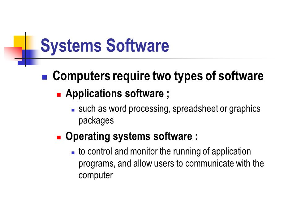 computer software types description and examples