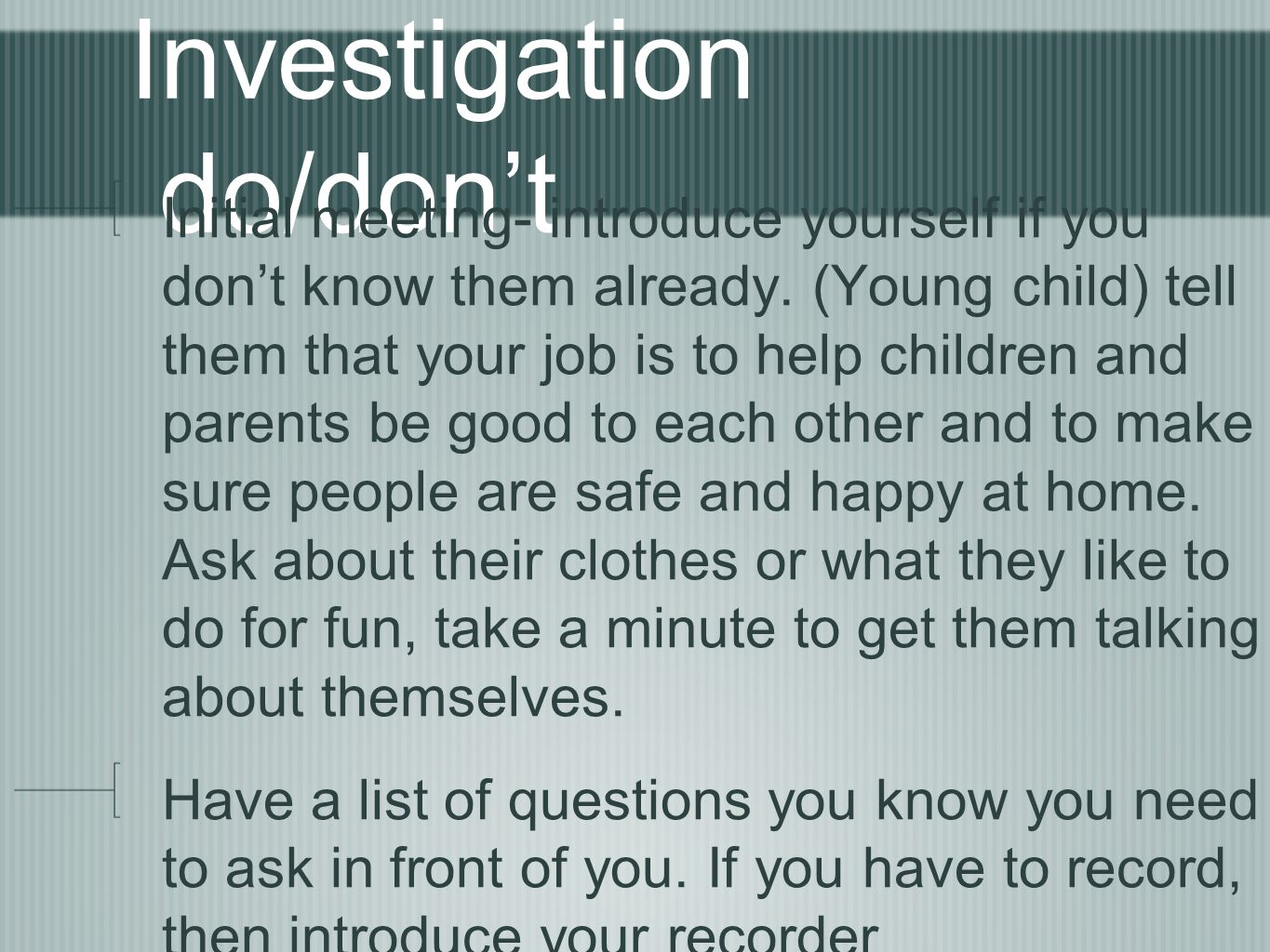 Child Abuse Neglect Interviewing Ppt Video Online Download