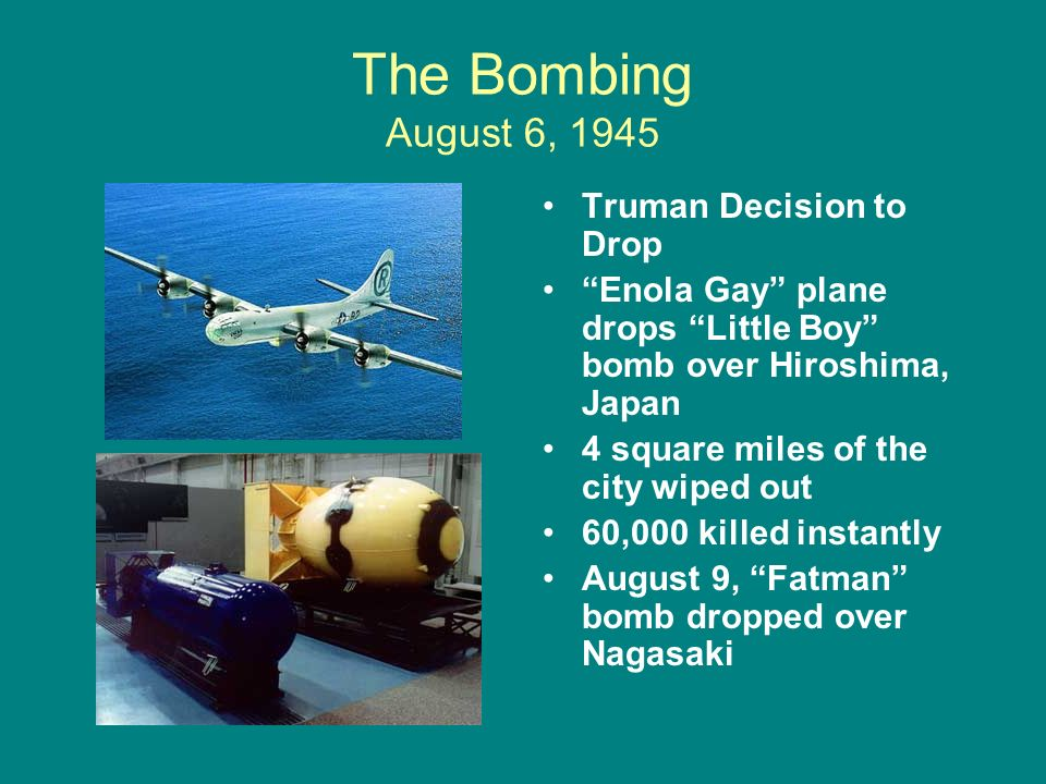 decision to drop atomic bomb As the manhattan project neared its first atomic test, there was a growing sentiment among project leaders that an advisory committee to make recommendations on.
