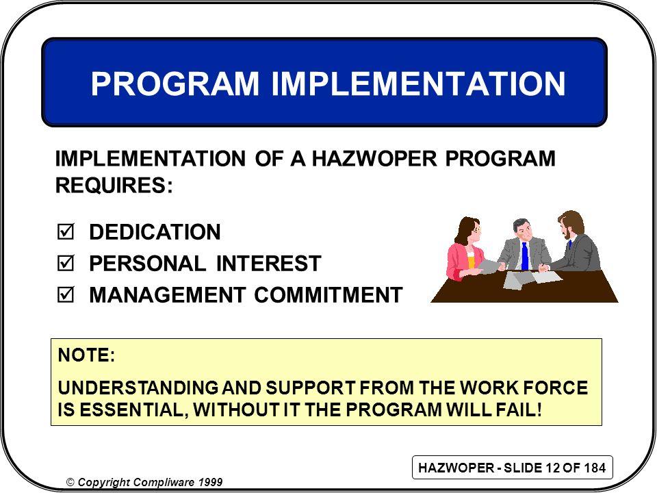 PROGRAM IMPLEMENTATION