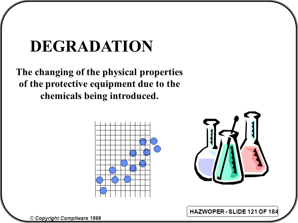 DEGRADATION The changing of the physical properties