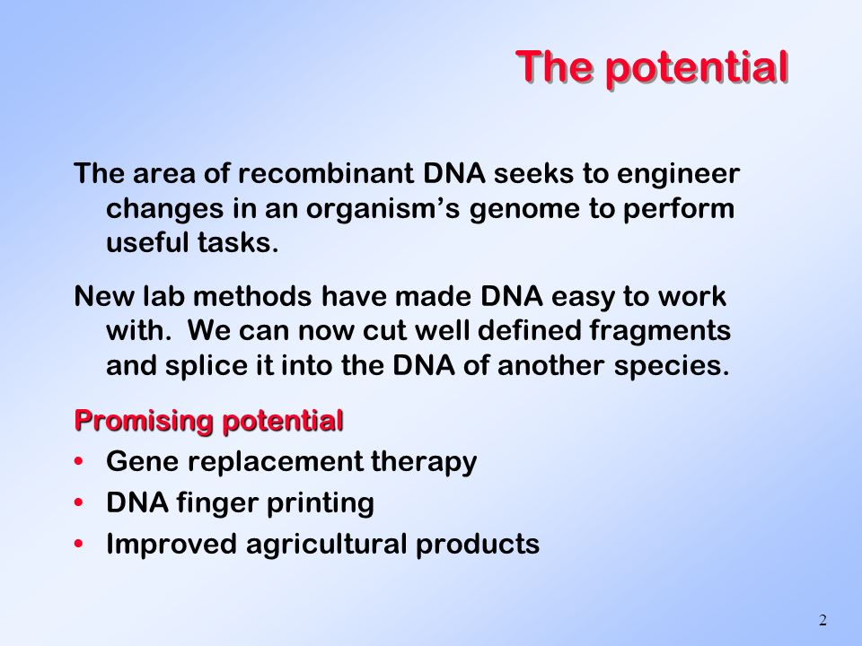 recombinant dna and other topics in biotechnology ppt video 2 the