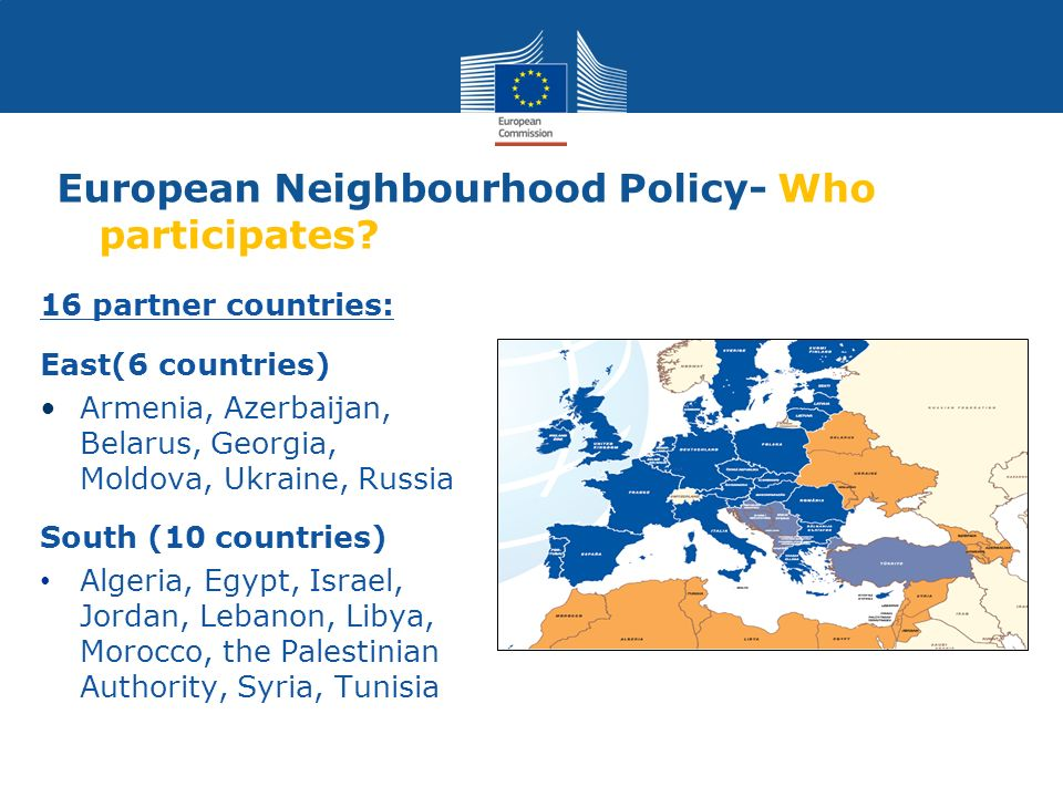 European Neighbourhood Policy- Who participates