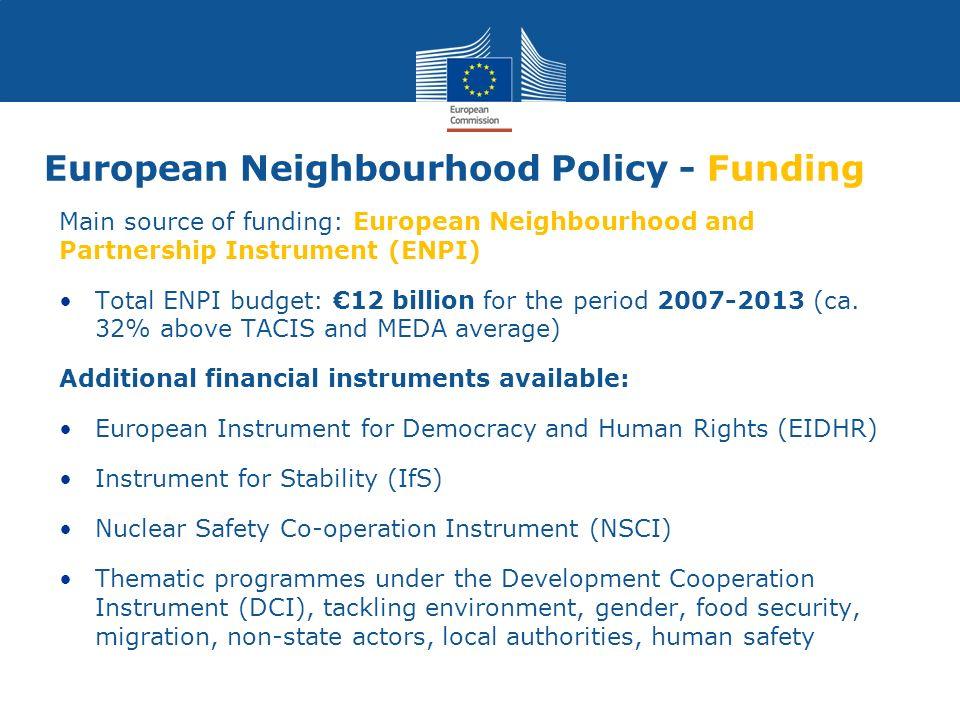European Neighbourhood Policy - Funding