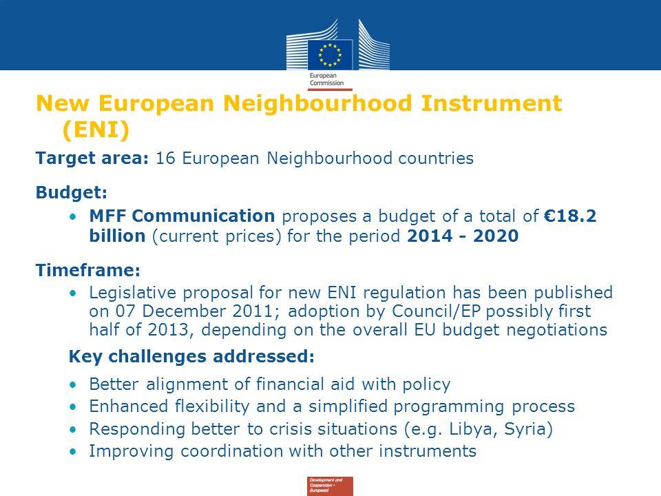 New European Neighbourhood Instrument (ENI)