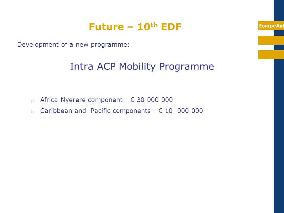 Intra ACP Mobility Programme