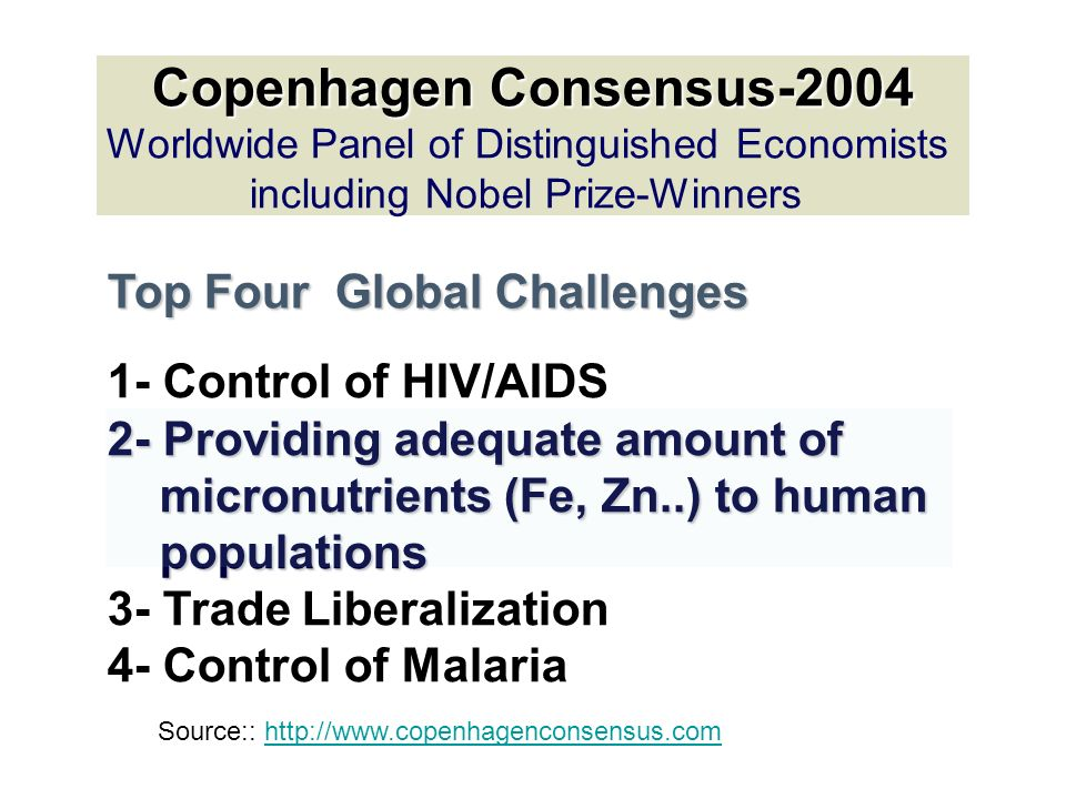 copenhegan consensus 2004 Only one project — copenhagen consensus on climate in 2009 — dealt  of  339 research papers published since 2004, just 51 tackle the.