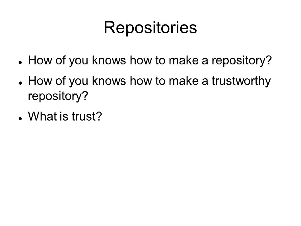 Repositories How of you knows how to make a repository