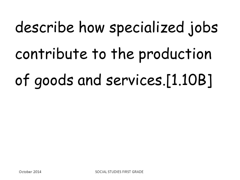 goods and services powerpoint for first grade Grade 1 integrated social studies/english language arts curriculum page 1 revised june 2012 lesson 6: what goods and services can my community provide.