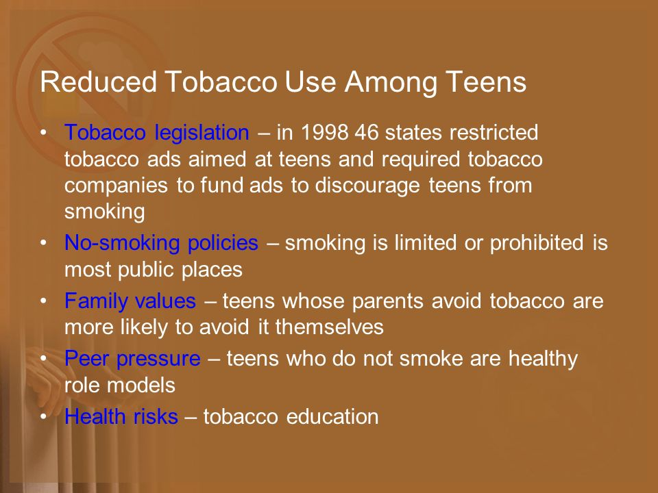 tobacco smoking among teenagers issues Questions about issues in the news for students 13 and older cigarette sales are down by a third over the past decade, according to federal data, but some worry that flavored cigars and e-cigarettes are offsetting any dip in smoking among young people is smoking still a problem among teenagers is.